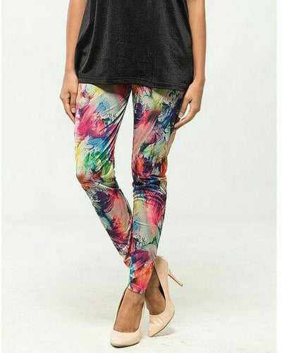 Multi Printed Tight For Women - Paksa Pk