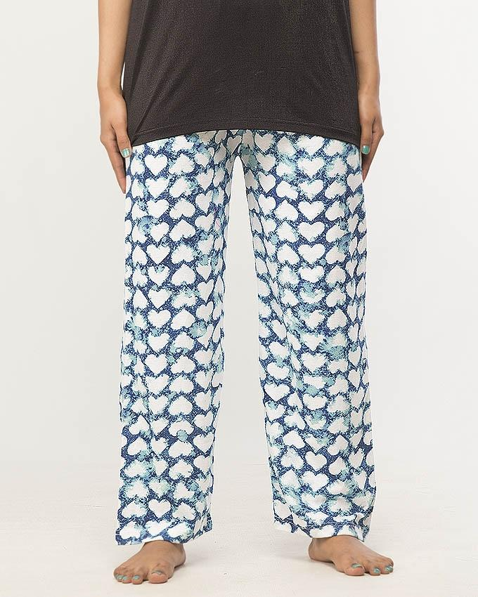 Heart Print Pajama For Women - Paksa Pk