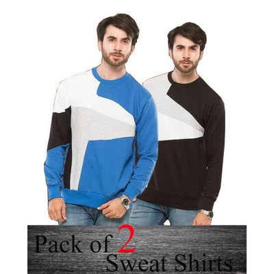 Pack Of 2 Sweat Shirts For Men - ABZ-2281 S - Paksa Pk