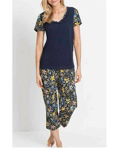 Printed Pajama Night Wear Suit For Women - Paksa Pk