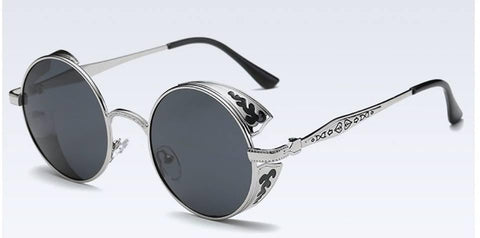 Stylish Silver Frame Design With Black Sun Glasses For Women - Paksa Pk