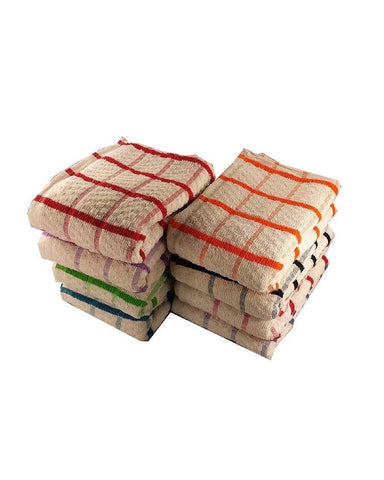 06 Egyptian Cotton Tea Towels, Large Catering Grade Kitchen Tea Towels Dish Cloth - Paksa Pk