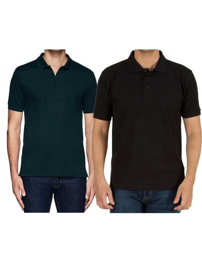 Pack Of 2 Polo T-Shirts For Men - Paksa Pk
