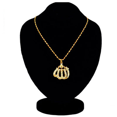 KC ALLAH Pendant Golden For Women - Paksa Pk