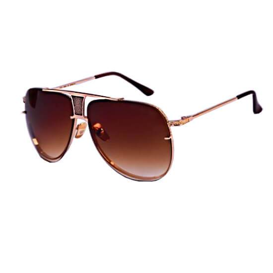 Brown With Stylish Frame Sun Glasses For Men - Paksa Pk