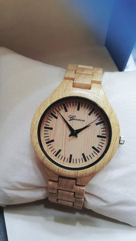 New Fancy Wooden Style Watch For Men & Women - Paksa Pk