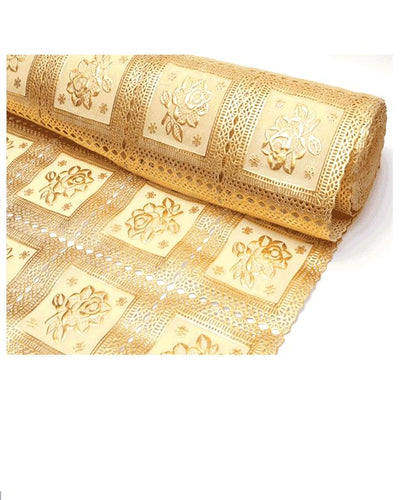 Table Mat Drawer Wardrobe Mat PET Waterproof Non-Slip Mat Tableware 1 Meter Golden - Paksa Pk