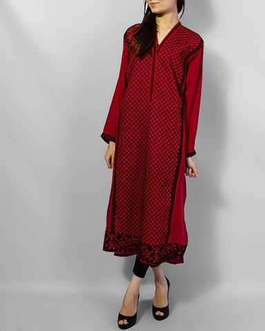 Maroon Boski New Stylish Design Kurta - Paksa Pk