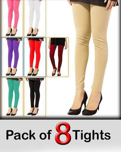Pack of 8 Tights For Women - Paksa Pk