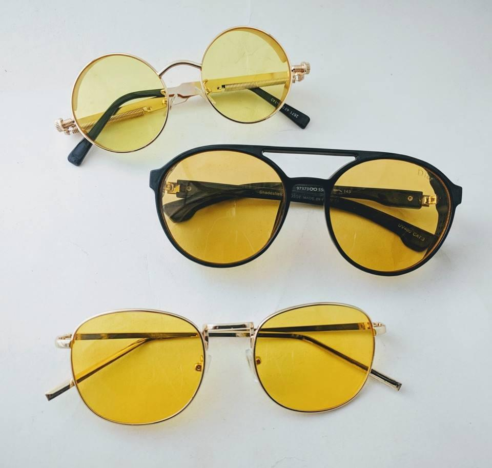 Yellow Fancy & Stylish Sun Glasses For Men & Women - Paksa Pk