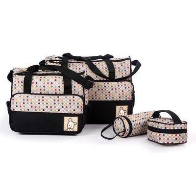 BABY DIAPER BAG SET 5 PCS - MULTICOLOR - Paksa Pk