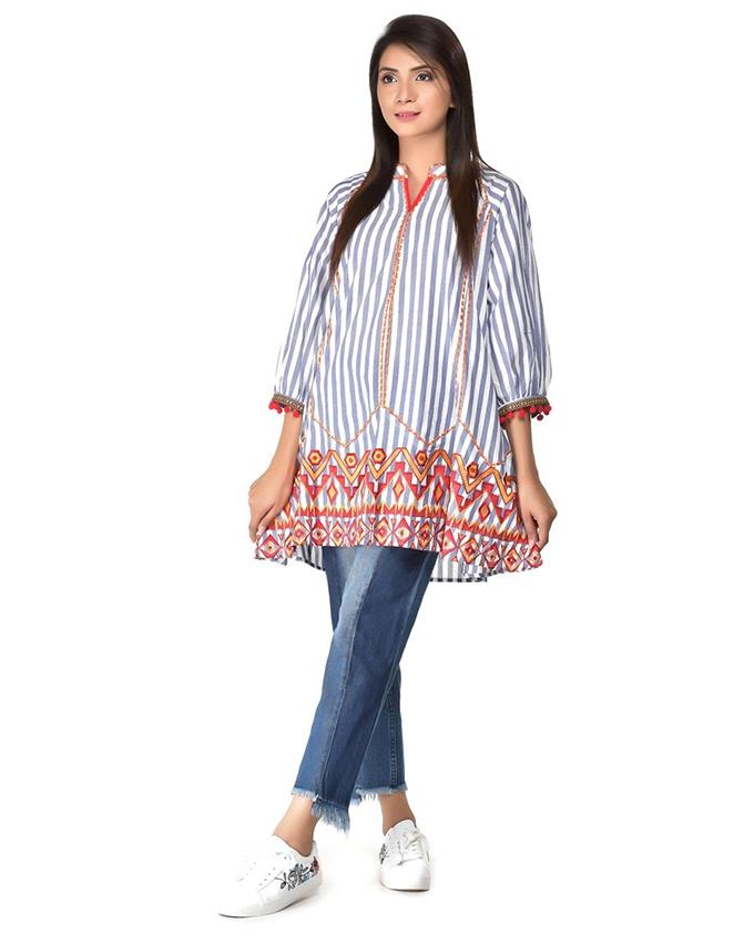 Printed Lining Top For Women - Paksa Pk