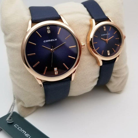 Decent Style Display With Blue Strap Watch For Couple - Paksa Pk