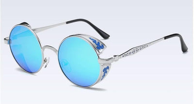 Stylish Silver Design Frame With Blue Sun Glasses For Women - Paksa Pk