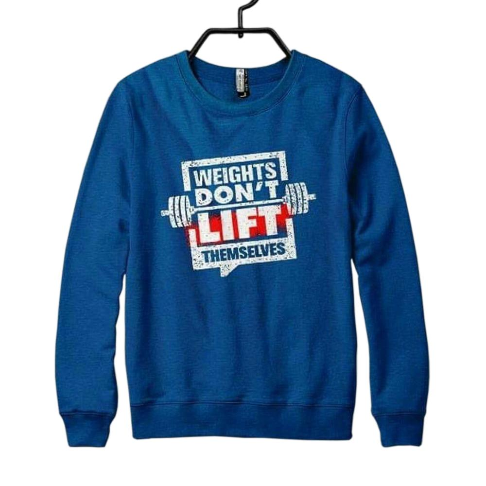 Blue Weights Don't Life Themselves Printed Sweatshirt For Men - Paksa Pk