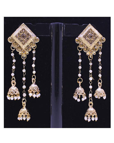 KC Bahubali Golden Earrings for Women - Paksa Pk