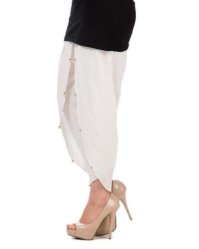 White Cotton Tulip Shalwar for Women - Paksa Pk