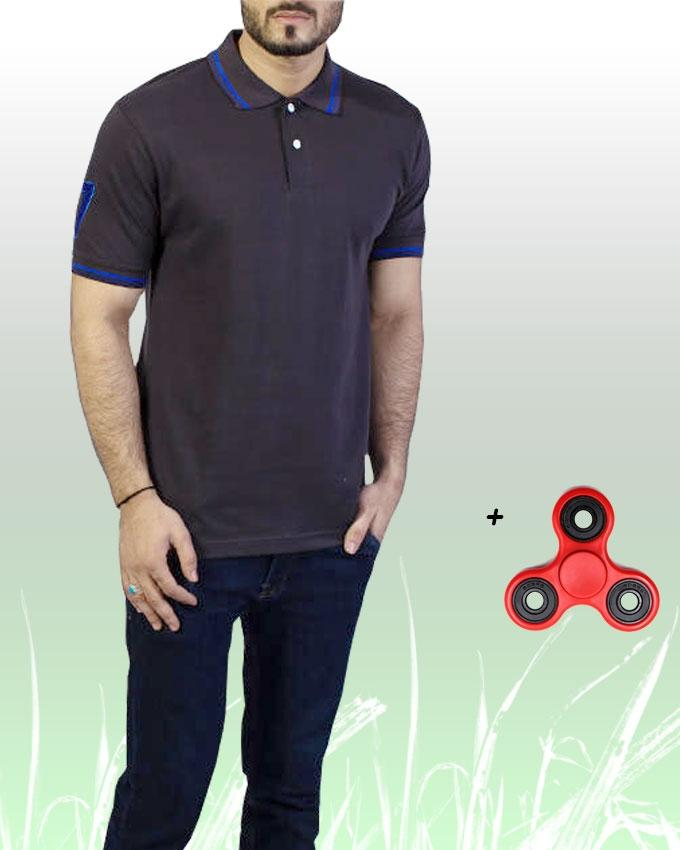 Polo T-Shirt + Fidget Spinner Stress Reducer Toy For Men - Paksa Pk