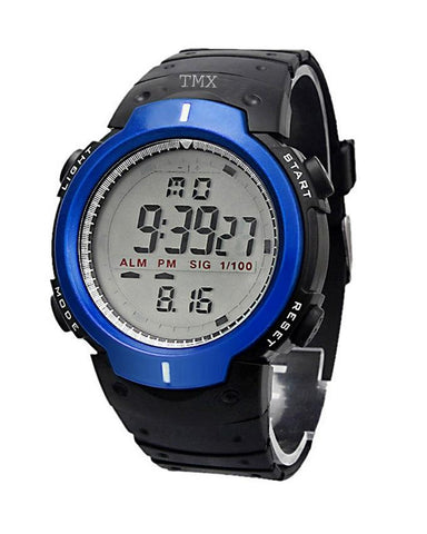 Black Rubber Digital Watch for Boys - Paksa Pk