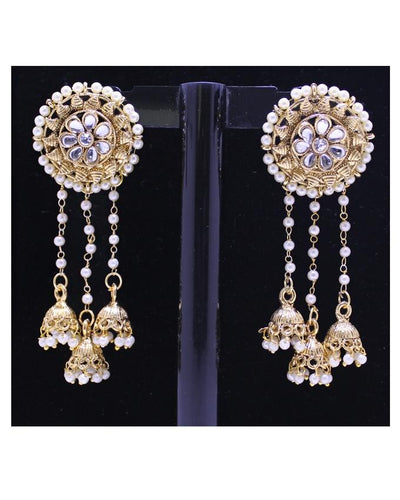 Bahubali Golden Earrings for Women - Paksa Pk