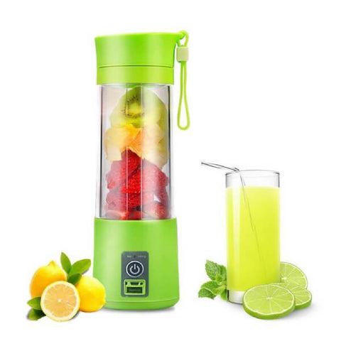Portable Rechargeable Juicer Blender With 2 Blades - Paksa Pk