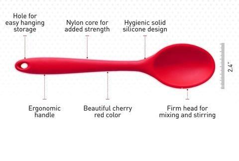 Silicone Mixing Spoon With Hygienic Solid Coating - Paksa Pk