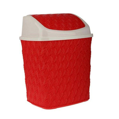 Dustbin Trash with Swing Lid in Knitting Design - Paksa Pk