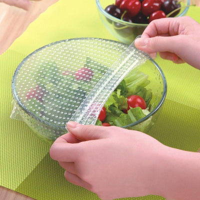 Original Stretch and Fresh 4 PCS Multi functional Food Fresh Keeping Saran Wrap - Paksa Pk