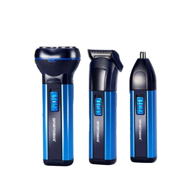 3 In 1 Electric Beard Shaver and Men Switchblade Hair Trimmer - Paksa Pk