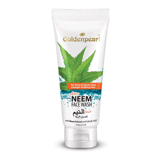 ACTIVE NEEM FACE WASH FOR PIMPLE FREE CLEAR SKIN Golden Pearl 75ML - Paksa Pk