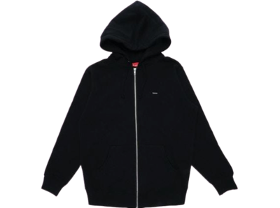 SUPREME MINI BOX LOGO ZIP UP HOODIE BLACK