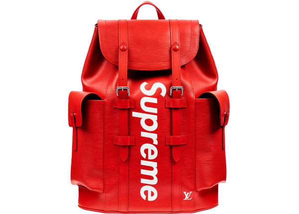 LOUIS VUITTON SUPREME CHRISTOPHER BACKPACK RED