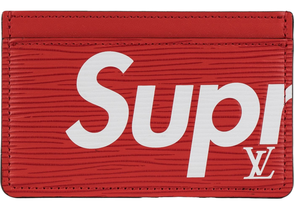 LOUIS VUITTON SUPREME CARDHOLDER RED