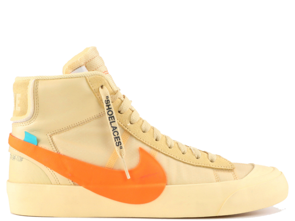 NIKE OFF WHITE BLAZER MID ORANGE