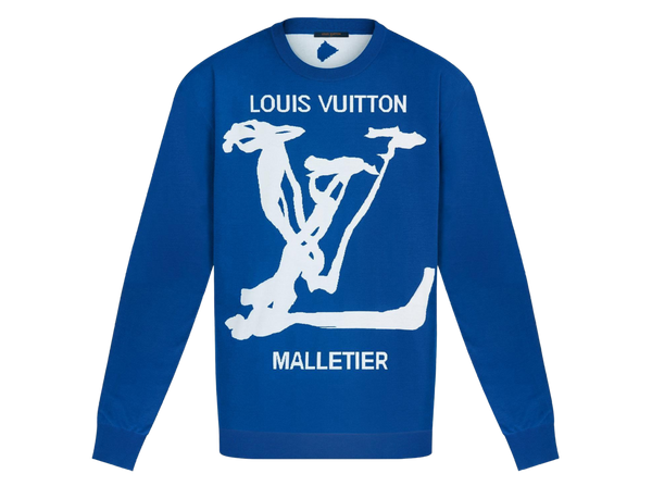 LOUIS VUITTON SCRIBBLE INTARSIA CREWNECK