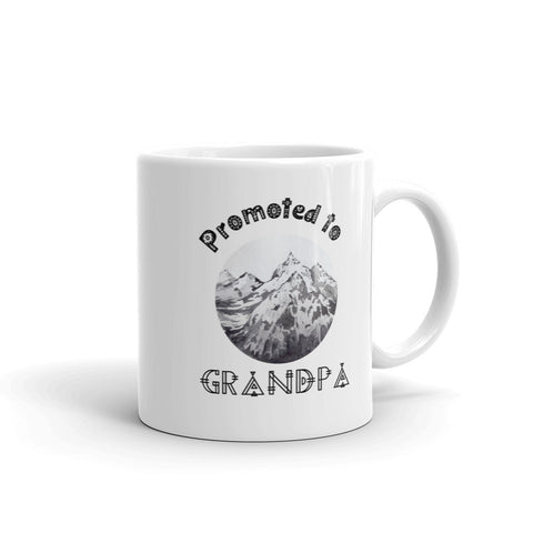 Promoted to Grandpa Mountain Mug
