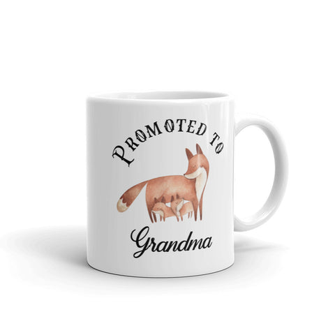 Promoted to Grandma Fox Mug