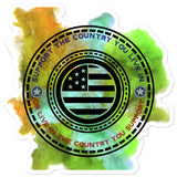 Support Your Country Sticker