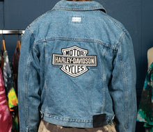 Load image into Gallery viewer, 1 of 1 Vintage Harley-Davidson Denim Jacket