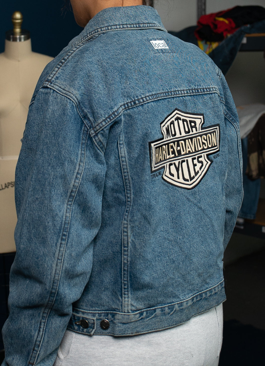 1 of 1 Vintage Harley-Davidson Denim Jacket