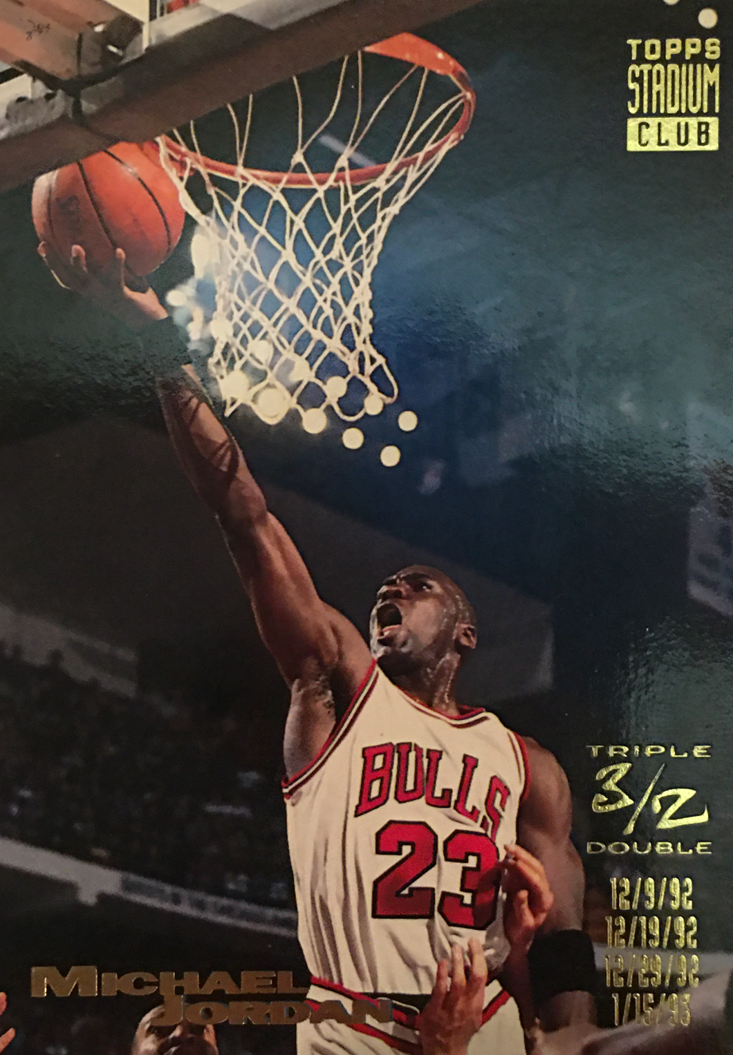 Michael Jordan Topps stadium club #1
