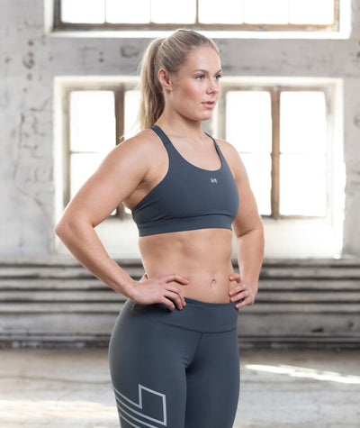 dark grey performance-sports-bra