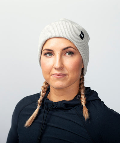 light grey merinowool-beanie