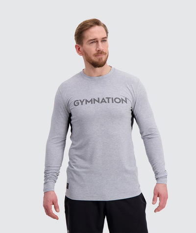 Mens training longsleeve t-shirt#light-grey