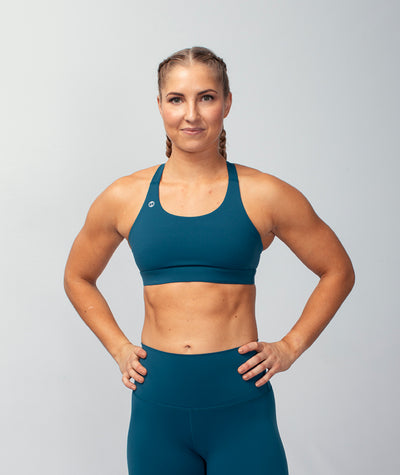 teal blue performance-boost-sports-bra