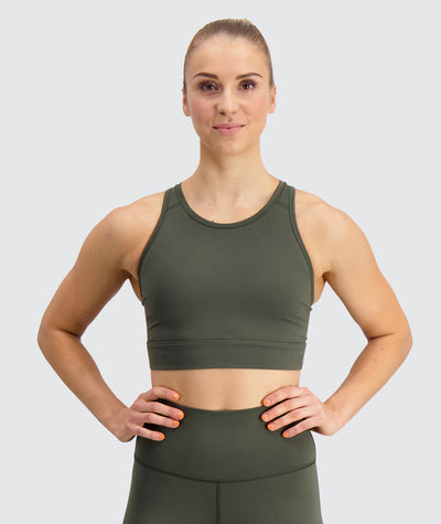 padded sports bra#army_green
