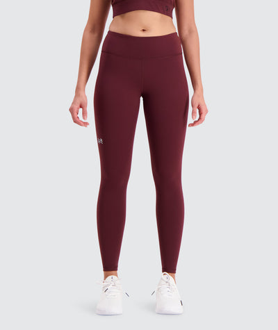 training tights for women#wine_red