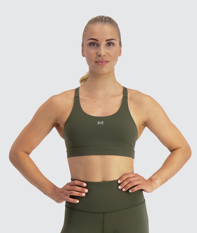 sports bra for crossfit#army_green