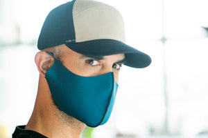 Blue Swirl Pop - Neoprene Mask