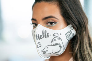 Hello & Thank U Pop - Neoprene Mask